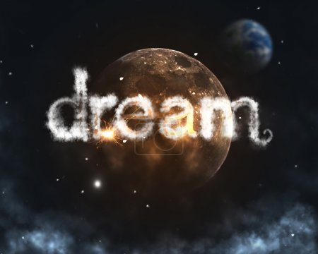 Photo for Dream cloud burning word - Royalty Free Image