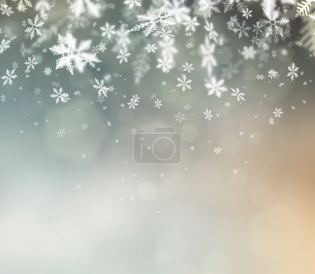 Photo for Beautiful abstract snowflake Christmas background - Royalty Free Image