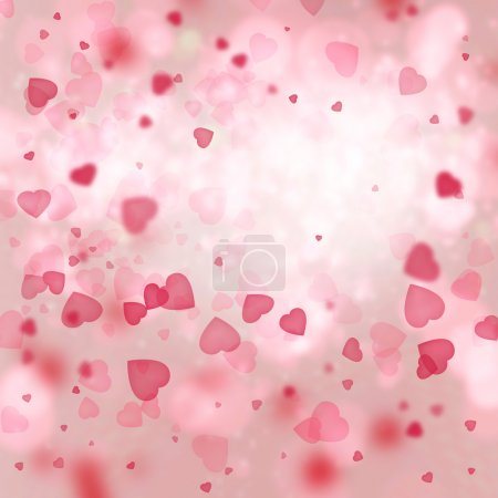 Valentine background: heart tornado