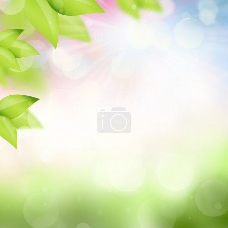 Natural spring and summer background with selective focus and le
