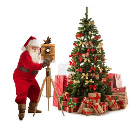 Santa Claus taking picture