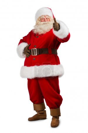Santa Claus standing on white background