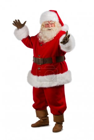 Photo for Santa Claus gesturing his hand isolated over white background - Royalty Free Image
