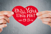 Do you love me? Valentine's day background.