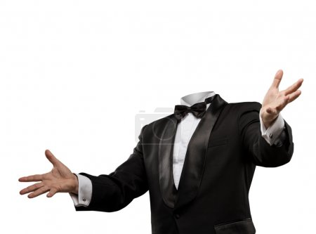 Photo pour Homme sans tête isolé sur blanc - image libre de droit