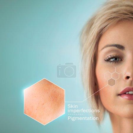 Woman skin crops