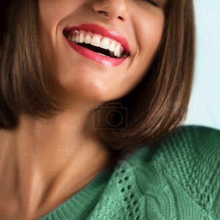 Woman's perfect smile.