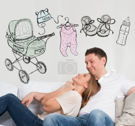 Photo for Newborn concept. Adult couple planning their baby - Royalty Free Image