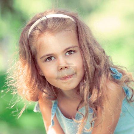 Sweet little girl outdoors