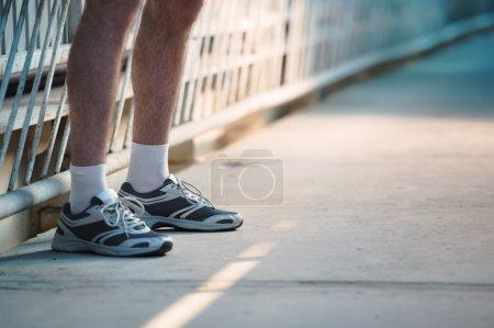 Athlettic man legs