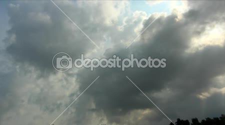 Idő telik - vihar felhő mozgó