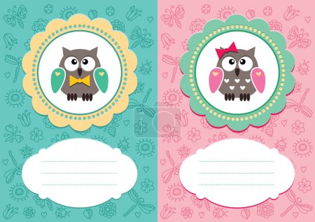 Baby cards with owlet