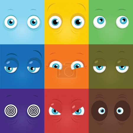 Illustration for Set of funny cartoon monster eyes - Royalty Free Image