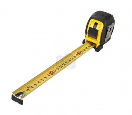 Photo for Professional tape measure isolated on white background - Royalty Free Image