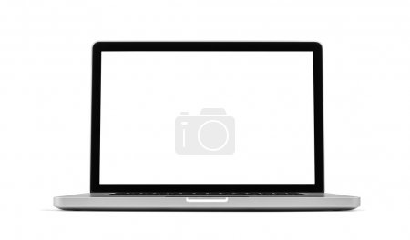 Photo pour Ordinateur portable isolé sur blanc, chemin de coupe inclus - image libre de droit