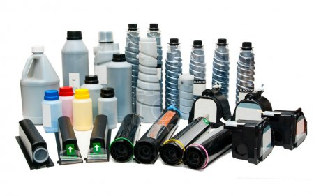 Colour toners and cartridges for printers.