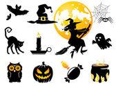 Halloween set black /orange figures for decoration