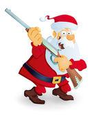 Santa with rifle