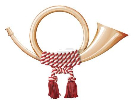 Illustration for Post horn, symbol of national post service - Royalty Free Image