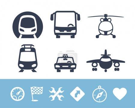 Illustration for Transport icons set - Royalty Free Image