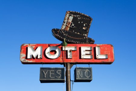 motel sign retro style