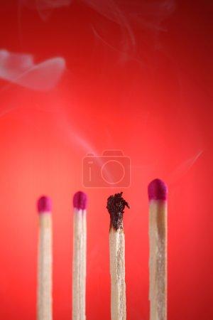 burnt matches