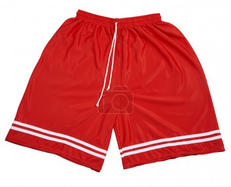 Photo for Red polyester nylon red color of shorts - Royalty Free Image