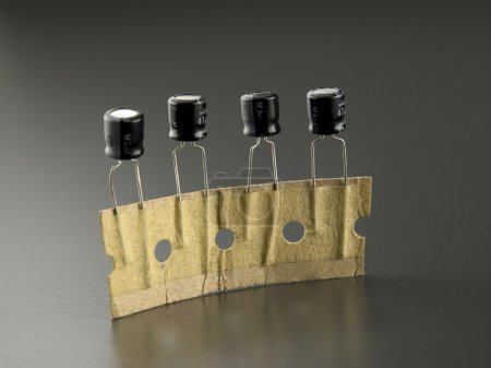 Photo for Close up of the Electrolytic capacitors - Royalty Free Image