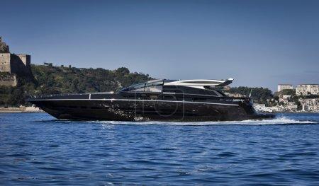 Photo for Italy, Baia (Naples), Baia 100 luxury yacht (boatyard: Cantieri di Baia) - Royalty Free Image
