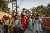 India, Rajasthan, Jaipur, indian woman on wedding