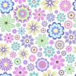 Vector illustration of pastel flowers on white bac...