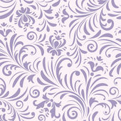 Vector illustration of seamless pattern with abstract flowersFloral background