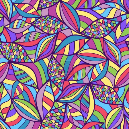 Illustration for Vector illustration of abstract seamless pattern with colorful elements - Royalty Free Image