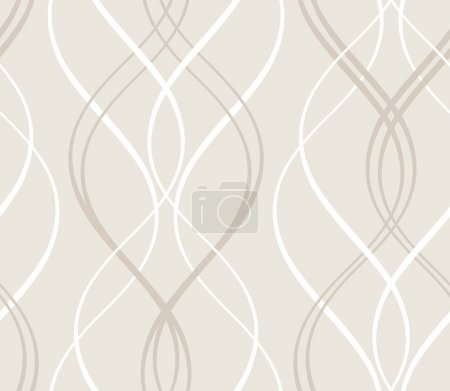 Illustration for Curved stripes forming a decorative abstract background pattern that will tile seamlessly. - Royalty Free Image