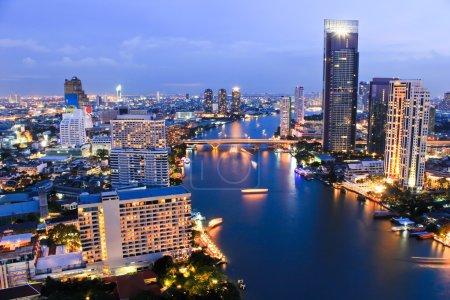 City Top View in bangkok