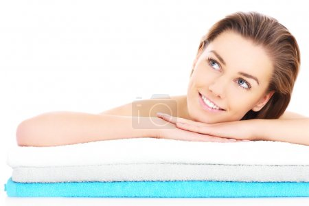Woman and towels