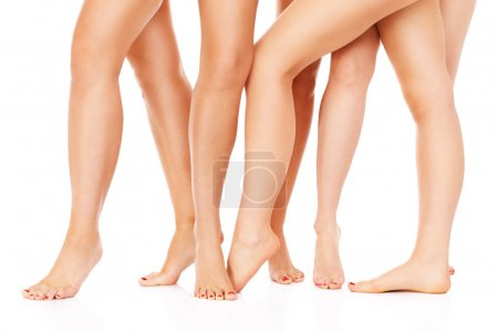 Photo for A picture of female legs over white background - Royalty Free Image