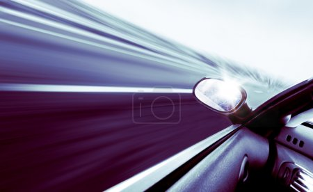 Photo for High-speed car concept in blue toned - Royalty Free Image