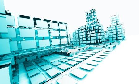 Photo pour Architecture abstraite .technology et concept d'architecture - image libre de droit