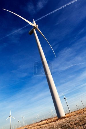 Wind mill and blue sky