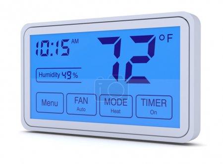 Photo pour Gros plan d'un thermostat numérique, programmable (rendu 3d) - image libre de droit