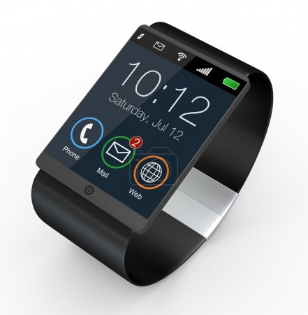 Photo pour Gros plan d'une smartwatch moderne (rendu 3d ) - image libre de droit