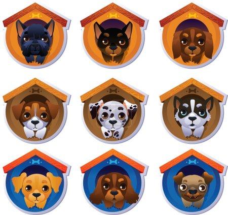 Dog stickers set