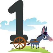 Collection number for kids: farm animals - number 1 donkey