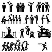 A set of pictogram representing idol VIP celebrity and stars