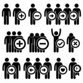 Man Business Human Resource Stick Figure Pictogram Icon