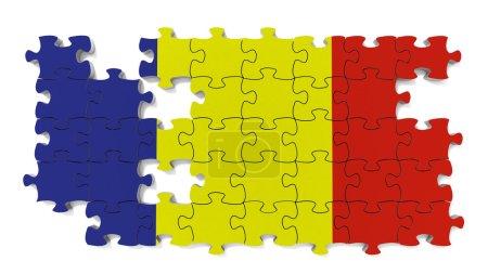Photo pour Puzzle drapeau avec pièces manquantes . - image libre de droit