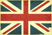 Grunge poster - British flag in Retro style - Vector illustration