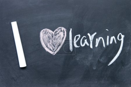 Photo for I love learning sign - Royalty Free Image