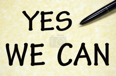 yes we can title written with pen on paper